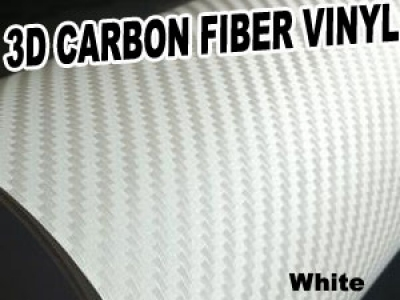 ZEEZ 3D Texture Carbon Fiber Sticker Vinyl Flexible Decal Film Wrapping Sheet (White) For NISSAN Paladin at Sears.com