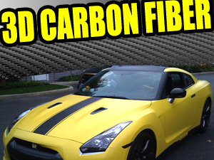 3D Texture Carbon Fiber Vinyl Wrapping Film