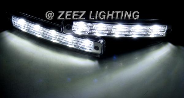 High Power Ultra Bright White LED Daytime Running Light ...