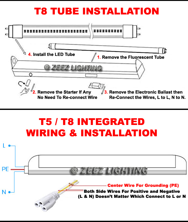 2 foot t8 bulb led driver wiring diagram lutron led driver wiring diagram t5/t8 white led linear tube light bulb 2ft/3ft/4ft ...
