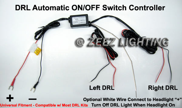 Led Daytime Running Light Drl Relay Harness Auto Control