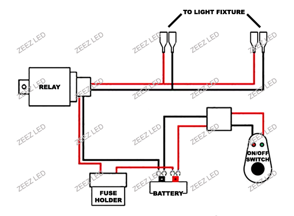 fog light relay harness wire kit hid led lamp worklamp