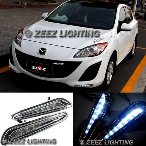 Exact Fit High 8 Led Daytime Running Light Drl Fog Lamp Kit Mazda3 3 10 13 23867949626 Ebay