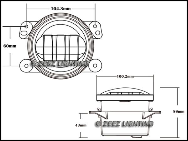 4 u0026quot  high power 30w cree led fog lamp kit front bumper