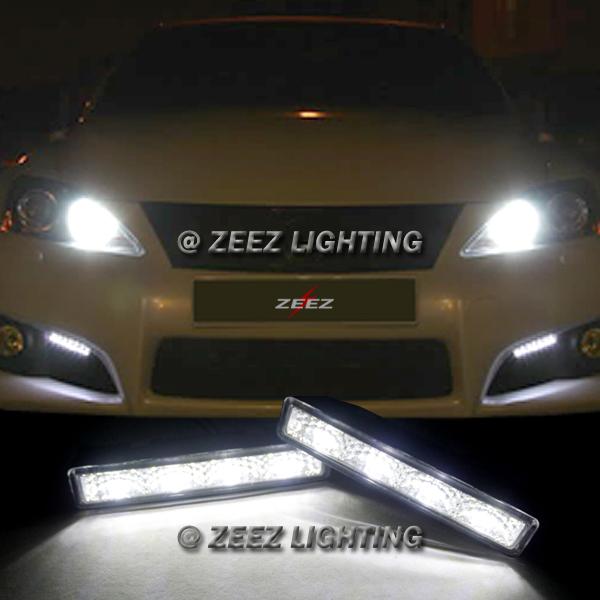Euro 8 LED Daytime Running Light DRL Fog Lamp Daylight Kit Day Time Lights C93