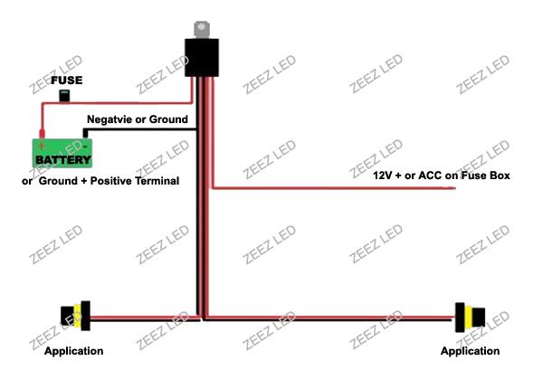 h1/h3/h7 relay harness wire kit addon daytime running fog ... wiring driving lights gauge #7